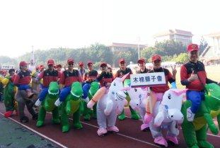 高雄台南屏東遊行恐龍裝騎馬裝騎大象充氣裝 (7)
